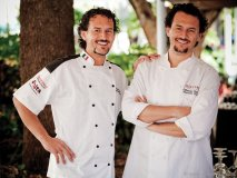Nicola and Fabrizio Carro are all smiles, winning the 2011 Five Star Diamond Award for both of their Quattro restaurants.