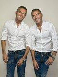 Identical twins  Dean and Dan Caten.