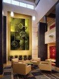 Te Taonga the Gift adds artistry to the hotel lobby of  Novotel Rotorua, New Zealand.