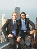 Enjoying each other's company through work and play, Eric Trump, left, and Donald Trump Jr., right, take brotherly business to new heights.