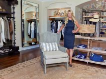 Founder and CEO of Seaside Luxe Lee Ann Sauter in the uniquely designed Marea Boutique at Terranea Resort and Spa in Palos Verdes, California.