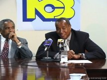 Michael Lee-Chin speaks at a National Commercial Bank press conference.