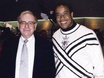 Business icon and fellow philanthropist Warren Buffett with Michael Lee-Chin.