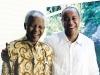 Nelson Mandela and Michael Lee-Chin.
