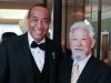 Michael Lee-Chin with Canadian environmentalist David Suzuki at The University of the  West Indies Benefit Gala in Toronto.