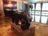 """""""Polar Bear and Cub"""" by Winnipeg sculptor Leo Mol sits on a granite block in the centre of Portland Holdings Inc.'s lobby."""