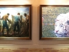 """The Fisherman"" by Jamaican artist Barrington Watson and ""White Tiger"" by Canadian artist Mark Strutt make this Portland Holdings Inc. hallway look more like an art gallery."