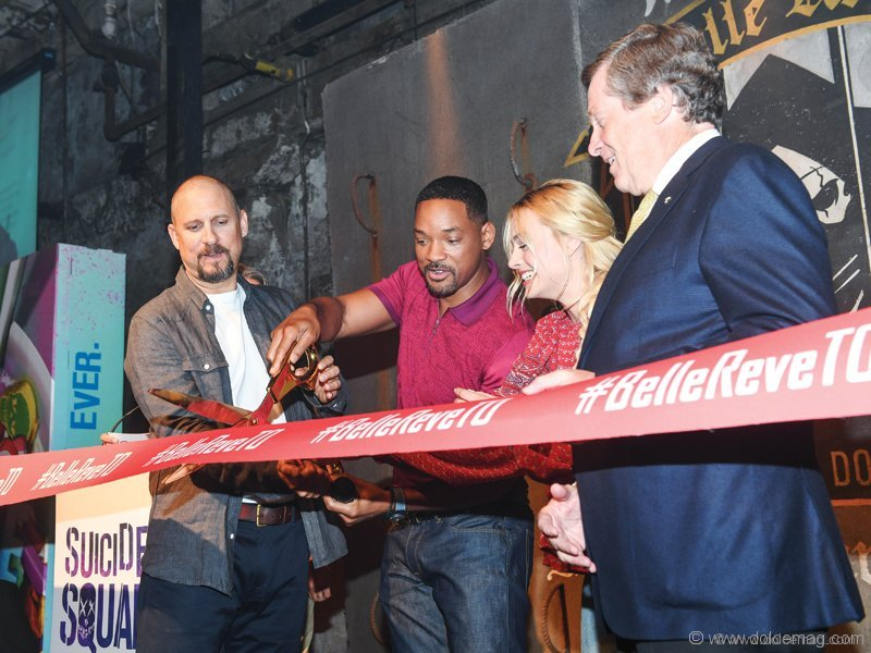 David Ayer, Will Smith, Margot Robbie and Toronto Mayor John Tory