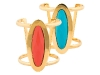Perfect for a monochromatic swimsuit, these colourful cuffs add a much-needed punch of colour. www.vivre.com