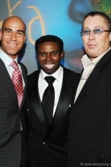 "Ferris Rafauli, president and founder of Grandeur Custom Homes Inc., Michael ""Pinball"" Clemons, Jim Williams, president and CEO of Williams Telecommunications Corp."