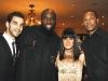 "Jose Calderon (Toronto Raptors), Reggie Evans (Toronto Raptors), Natasha Borota, co-founder of The Michael ""Pinball"" Clemons Foundation, Antoine Wright (Toronto Raptors)."