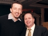 Hedo Turklogu (Toronto Raptors) and Terry Power, country manager, Randstad Canada.
