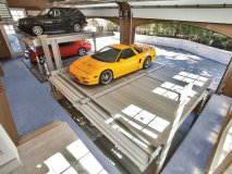 European eight-car lift system inside the climatized garage, valued at $400,000.