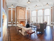 With a 16,000-pound hand-carved, solid marble fireplace mantle, the Great Room exudes the classical timelessness of the late 19th century.
