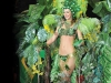 Elaborate Brazilian costumes adorn entertaining dancers.