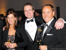 Kara Wood, Stewart Borden (Partner BWI) Patrick Wood (VP CIBC Wood Gundy)
