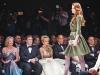 Former lieutenant-governor of Ontario Hilary Weston, Edward Rogers, Suzanne Rogers and Oscar de la Renta enjoy a fashion show at Suzanne Rogers Presents: Oscar de la Renta