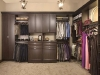 Walk In Closet in Chocolate Pear finish with Premier Recessed Panels