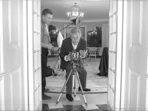 Terry O\'Neill on a photo shoot at the white-house