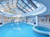 the balding estate skylit poolhouse