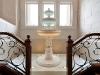 the balding estate staircase fountain