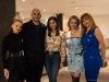 Co-host Ada Mlostek poses with audience members KC Daya, Nafisa Daya, Angelica Galuszka and Anna Chelman
