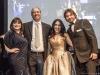 Jeanne Beker, Maurizio Magnifico, Mara Cataldi and Cristiano de Florentiis