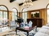Lounge and family room adorned with French-quarter design | Photos by Douglas Elliman