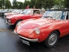 A 1974 GTV 2000 rests behind a 1967 Duetto Spider.