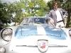 Andrea Zagato leans against an 1958 Fiat Abarth Zagato 750GT Corsa