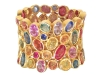 multicoloured gem bracelet