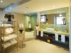 The Heron suite\'s modern bathroom has a soothing steam shower and soaker tub with jets.