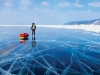 Siberian Express, 2010. Adventurers  Ray Zahab and Kevin Vallely run unsupported across 650 kilometres of a frozen Lake Baikal in an effort to inspire students to take action  and fund two water projects in Africa.