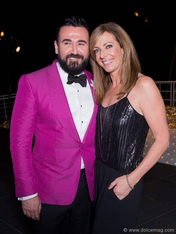 Chris Salgardo, president of Kiehl's USA, and Allison Janney, Emmy Award-winning actress
