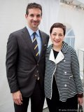 Marc Muzzo, president of Pemberton Group, and Ann Webb, managing director of ROM Contemporary Culture