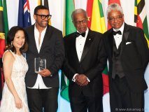 """Donette Chin-Loy Chang, Orville """"Shaggy"""" Burrell, Sir George Alleyne and E. Nigel Harris"""