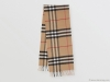 The Classic Check Cashmere Scarf by Burberry