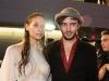 vancouver designer evan clayton and his model