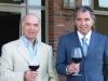 Alfredo DeGasperis (left) and son Jim DeGasperis (right) ruminate over a glass of Vineland's finest at Eagles Nest Golf Club.
