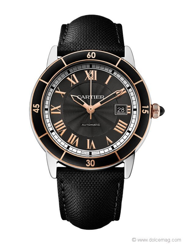 Steel, alligator skin and sapphire make Cartier's Ronde Croisière watch the crowned king of timepieces. The strap can be adorned with pink gold, white gold or diamonds   Berani Jewellers, www.berani.ca