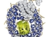 Jean Schlumberger\'s sapphire and diamond flower brooch is sold by Tiffany & Co. for $75,000.