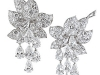 Diamond earrings from coveted Christie\'s auction house complement any one of Riva\'s classic bridal gowns.