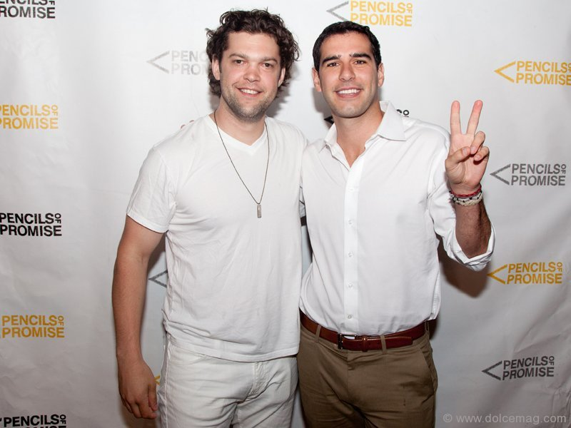Adam Braun with Adam Tichauer, co-organizer of White Party and member of PoP's NYC Leadership Council. Photo by Marisa Erin Photography.