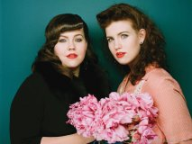 Gracing the stage in 1950s vintage dresses and voices to match, Laura and Lydia Rogers hail from Muscle Shoals, Alabama.