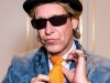 Wekerle's inimitable rock-star fashion sense is as colourful as his personality