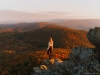 Humpback Rocks provides glorious views of the mountains and the Shenandoah Valley at the Blue Ridge Parkway Milemarker 5.9, George Washington National Forest |  Photo By Kelsey Johnson