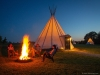 Visitors can experience a beautiful range of accommodations, including living in a luxury glamping teepee at Sandy River Outdoor Adventures in Rice, Va., which sits on about 10 hectares of land and houses four log cabins, one cottage, six teepees, several pastures, a little pond and an adventure park | Photo By Ali Zaman