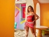 The supermodel shot the campaign for her collaboration with PrettyLittleThing in the Bahamas, which was released in late June 2021    Photo Courtesy Of Prettylittlething