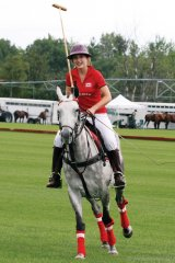 Polo player Elizabeth Fogarty, daughter of Justin R. Fogarty.
