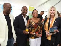 Members of event sponsor Barbados Tourism Authority.